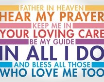 Father in Heaven Prayer - Digital Text Print/Poster