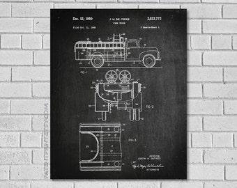 Fire Truck Patent Print - Firefighter Decor - Fireman Patent - Firefighter Patent - Firefighter Art - Historical Print - Patent Print CF772
