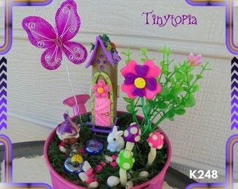 Glow In The Dark Gnome House Set~Miniature Fairy Garden Kit