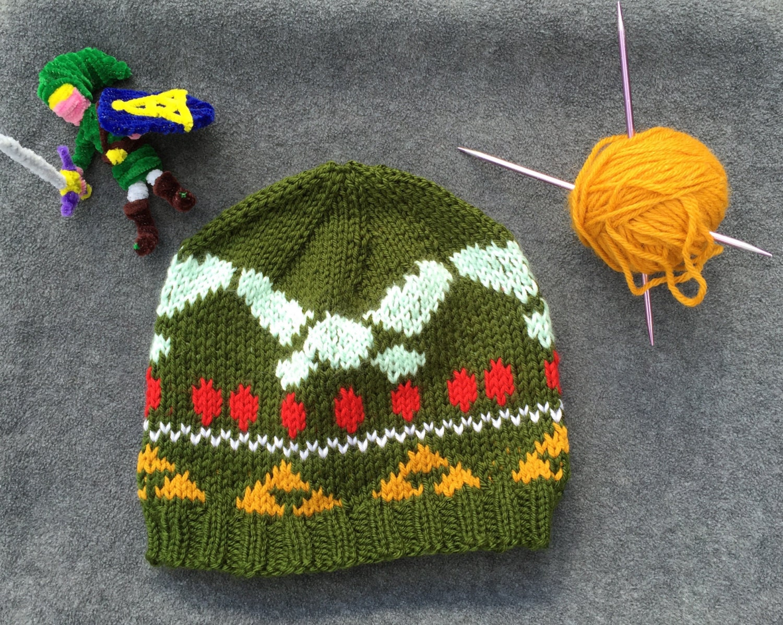 Legend Of Zelda Link Hat Knitting Pattern : Legend of Zelda Navi Knit Hat Handmade