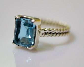Exclusive 925 Solid Sterling Silver Ring with 100% Color Change Lab Created Alexandrite (Zendrite) Custom Size 4-13 (US)