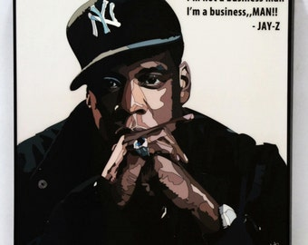 Jay z poster etsy jay z wall art decals quotes inspirational motivational rapper acrylic canvas prints framed ready to hang malvernweather Choice Image