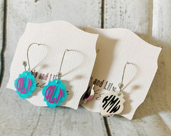 Monogram Earrings/ personalized earrings