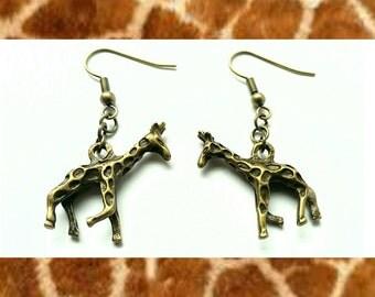 SALE 50% OFF - Handmade Giraffe Earrings