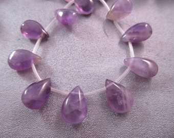 Amethyst Teardrop Beads 27pcs