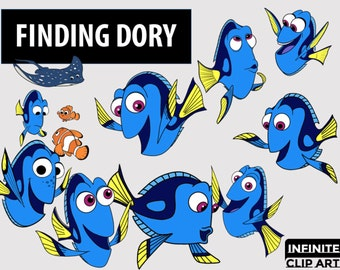 Finding Dory Clipart | Etsy