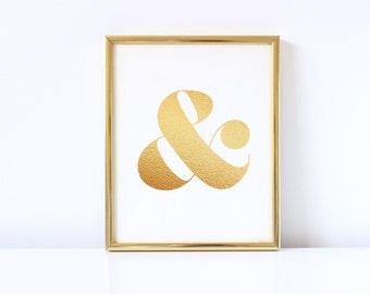 Gold Foil Ampersand Digital Download Print