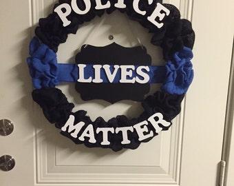 "Police Lives Matter 15"" frame"