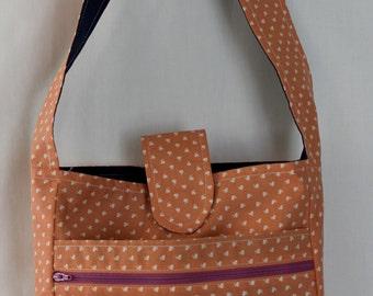 Peach Sling Messenger Bag