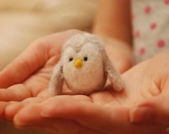 Needle Felted Cute Little Bird