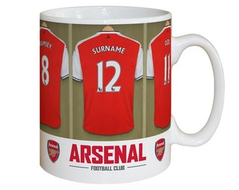 Personalised Arsenal F.C. Dressing Room Mug