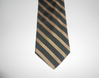 Vintage Brooks Brothers Makers Repp Stripe Tie / Made in USA / Pure Silk