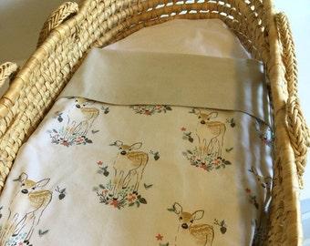 Bassinet Blanket/Little Fawn/Baby Blanket