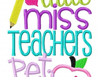 Little miss teachers pet tee