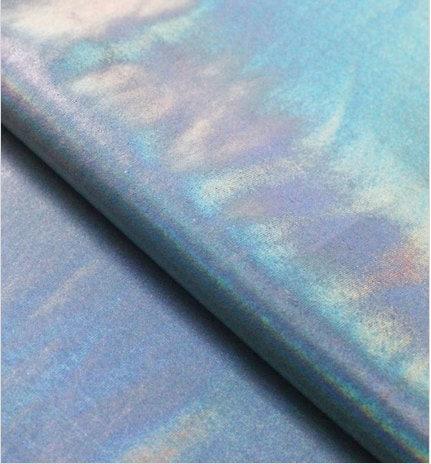 Silver Metallic Hologram Nylon Spandex Lycra Fabric High