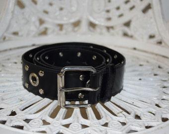 Vintage Faux Leather Studded Belt