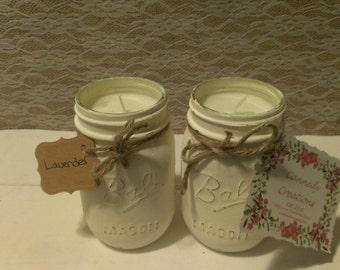 Rustic Mason Jar Soy Candles/ Mason Jar Candle/ Soy Candle/ Mason Jar Decor/ Homemade Candles