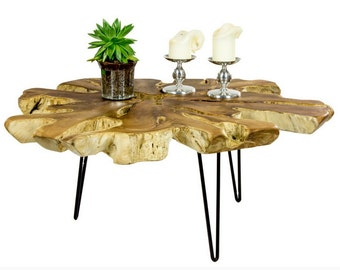 Coffee table Teak Root star 100x95cm