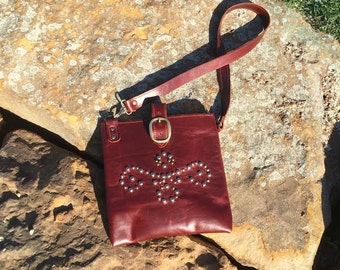 Burgandy Cross Body Purse