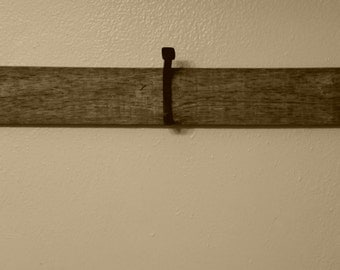 Fence post towel bar