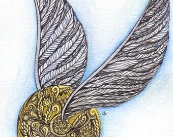 Golden Snitch A5 Print