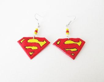 Geek earrings Superman DC