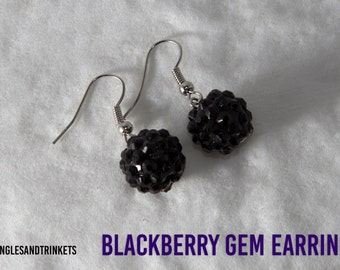 Blackberry Gem Earrings