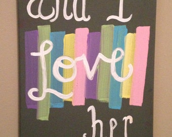 Beatles Lyric Canvas