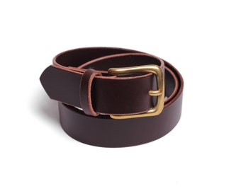"Belt 1.25"" with a Classic Buckle in Brown"