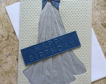 Handmade Evening gown Birthday card