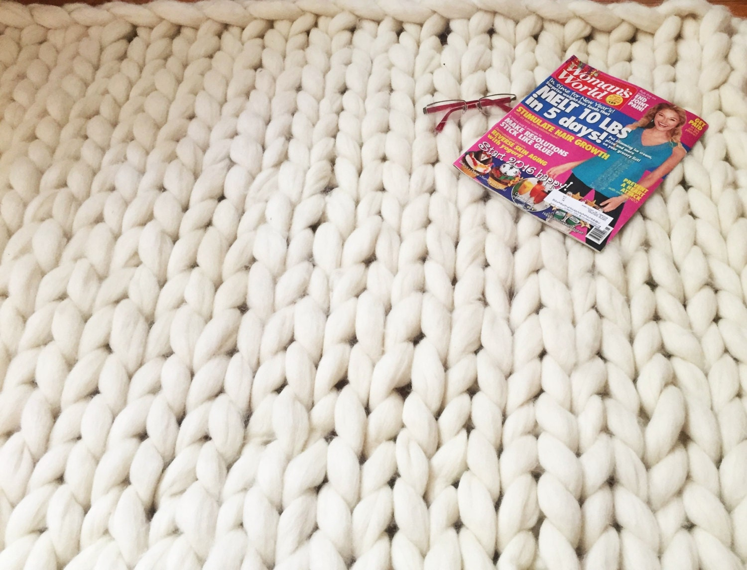 How To Knit A Rug Chunky Rug Chunky Knit Carpet Giant Knit Throw Jumbo Knit