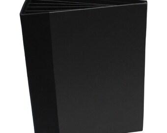 Heartfelt Creations Flip Fold Album Black - Empty Mini Album - Scrapbook Album - Black Flip Fold Album - Black Empty Scrapbook Mini Album