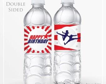 AMERICAN NINJA WARRIOR Water Bottle Label printable / diy