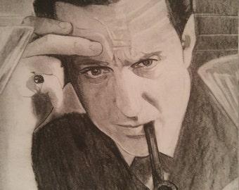 Sherlock Holmes in Charcoal