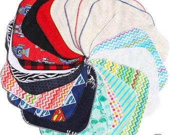 10 handkerchiefs SURPRISE washable fabric - wipe - reusable Kleenex - durable washable handkerchief - Zero waste - Zero Waste