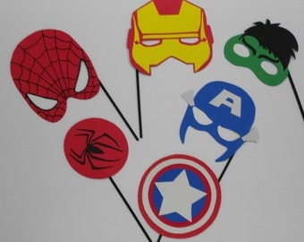 Super Hero Photo Booth Props