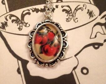 cherry bomb necklace