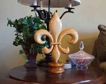 Fleur de lis Hand Carved Cypress