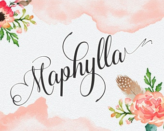 3 digital fonts for 10 dollar - Handwritten and watercolor font download. Calligraphy font. Get these downloadable fonts perfect for wedding