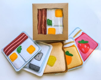 Breakfast coasters set (5)