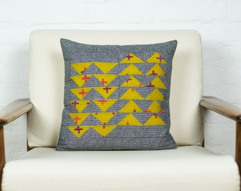 Modern Quilted Pillow Cover