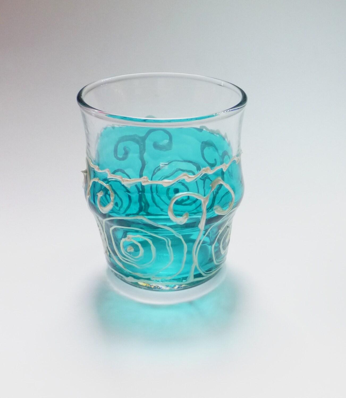 Bathroom Glass Holder Glass Bowl Decor Blue Glass Candle