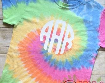 Monogram Tie Dye Shirt/Tie Dyed Monogram Shirt/Monogram Tie Dyed Shirt/Monogram Shirt/Tye Dye TShirt/Monogram Tye Dye Shirt/Tie Dye Shirt