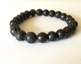 Essential Oil Aromatherapy Bracelet - Black