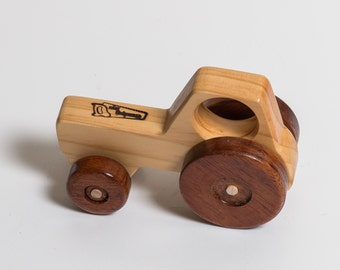 Wooden Toy Tractor - Small Vehicle