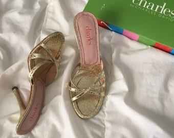 Gold vintage heels