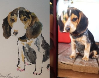 Custom Puppy Water Colors