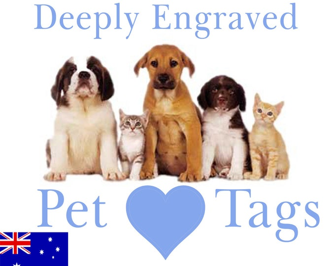 Traditionally Engraved Pet Tags, Proper Deep Engraving, Large Dog Tag, Small Dog Tag. Easy to choose size and colour. One Side Only.