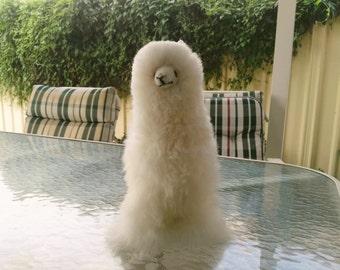 Fluffy Stuffed Alpaca Toy