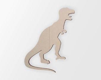 T-Rex Dinosaur Cutout - Cutout, Home Decor, Unfinished and Available from 1 to 42 Inches Tall